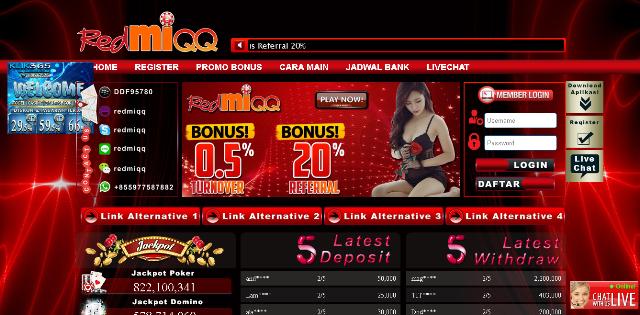 RedmiQQ Agen Sakong, Bandar Q, Domino Q, Adu Q, Poker Online Terpercaya